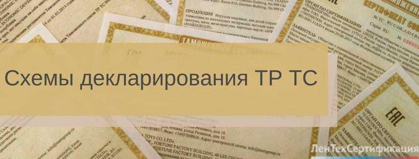 Схемы декларирования в системе ТР ТС