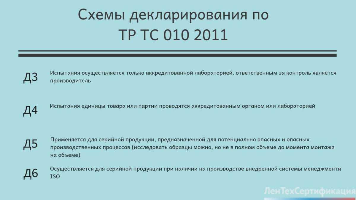 декларация ТР ТС 010 2011